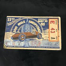 1949 Indy 500 Ticket