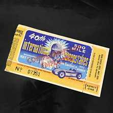 1956 Indy 500 Ticket