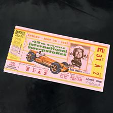 1958 Indy 500 Ticket