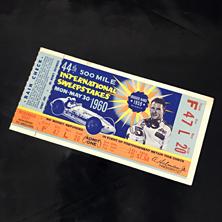 1960 Indy 500 Ticket