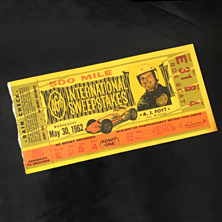1962 Indy 500 Ticket