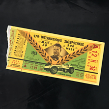 1963 Indy 500 Ticket