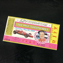 1968 Indy 500 Ticket