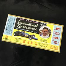 1971 Indy 500 Ticket
