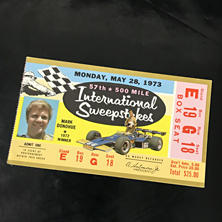 1973 Indy 500 Ticket