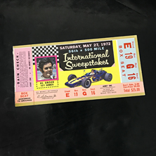 1972 Indy 500 Ticket