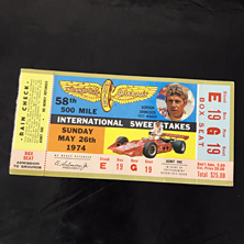 1974 Indy 500 Ticket
