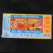 1977 Indy 500 Ticket