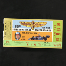 1976 Indy 500 Ticket