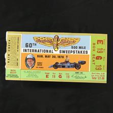1976 Indy 500 Ticket