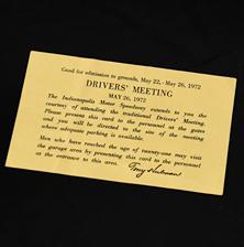 1972 Drivers Meeting