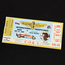 1980 Indy 500 Ticket