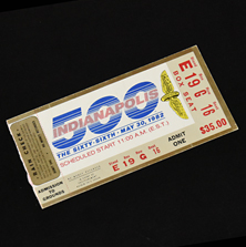 1982 Indy 500 Ticket