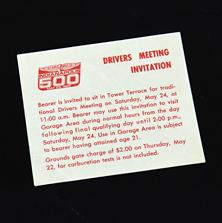 1986 Drivers Meeting