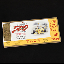 1989 Indy 500 Ticket