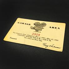 1969 Indy Garage Pass