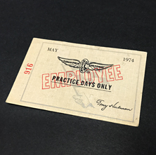 1974 Pactice Day Pass