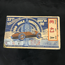 1949 Indy 500 Ticket