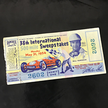 1954 Indy 500 Ticket