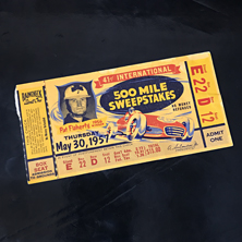 1957 Indy 500 Ticket