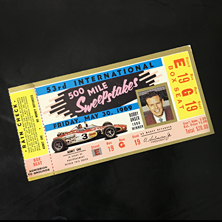 1969 Indy 500 Ticket
