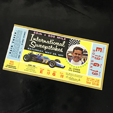 1971 Indy 500 Ticket