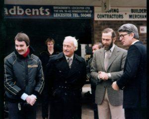 Nigel Mansell, Colin Chapman, HRH Duke of Kent, Peter Warr