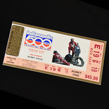 1987 Indy 500 Ticket