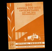 1932 Indy Program